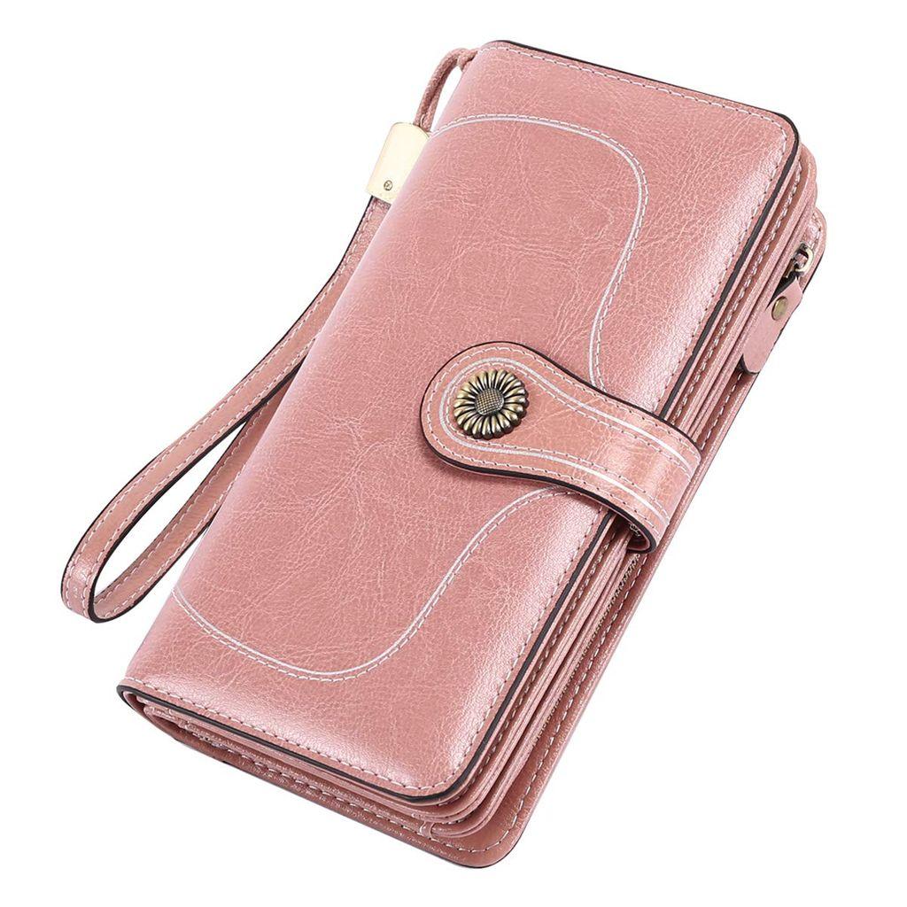 Damen Geldbörse Portemonnaie Geldbeutel Lange Portmonee Brieftasche Groß Karten