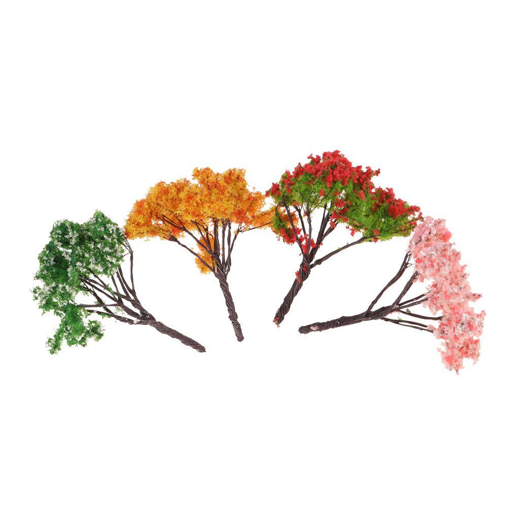 9Pcs 1//12 Puppenhaus Miniatur Baum Pflanze Garten Dekoration
