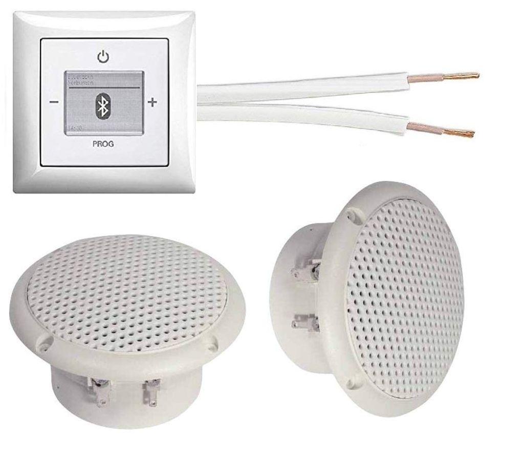 Busch Jäger Unterputz Bluetooth Radio Unterputz Radio 200 U 200U  alpinweiß Komplett Set Balance SI + 20 x Deckenlautsprecher ...