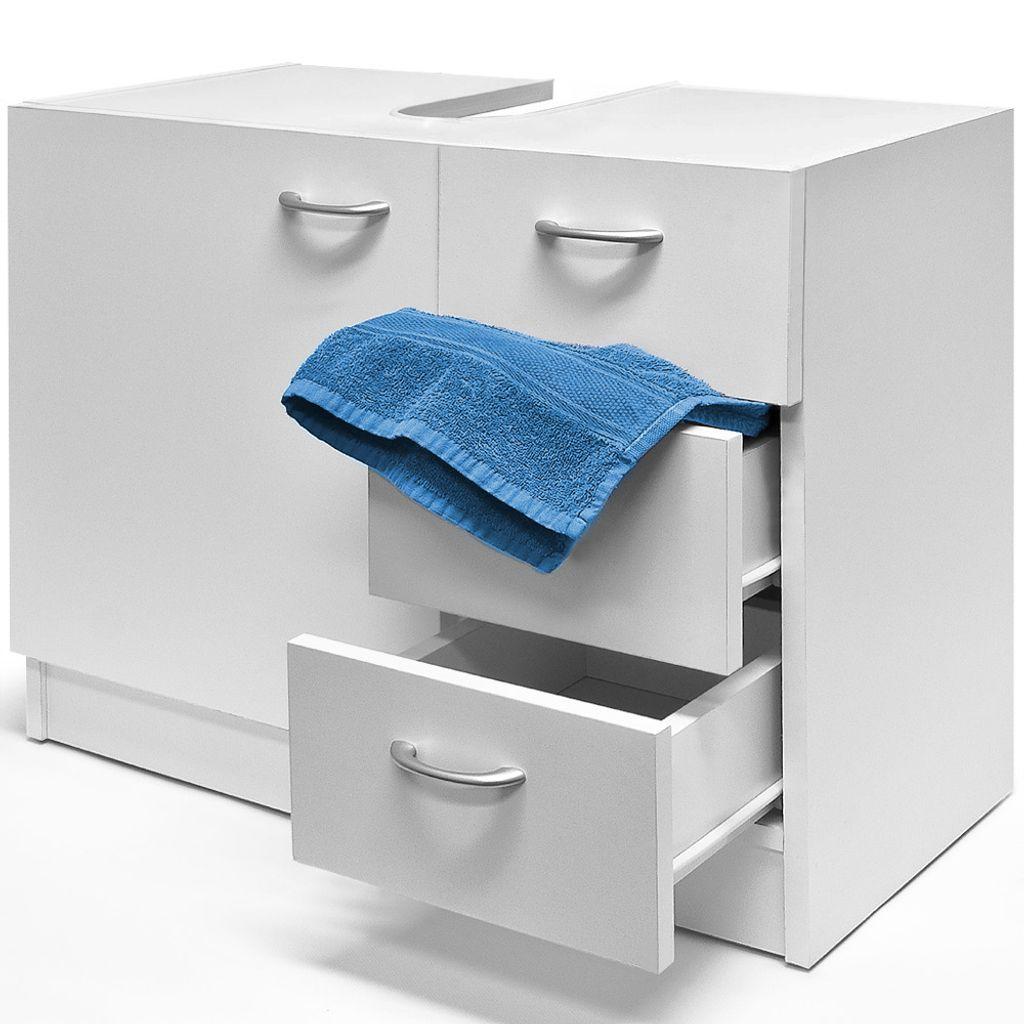 Waschbeckenunterschrank Unterschrank 20 Schubladen + 20 große Tür weiß  Materialstärke 205mm