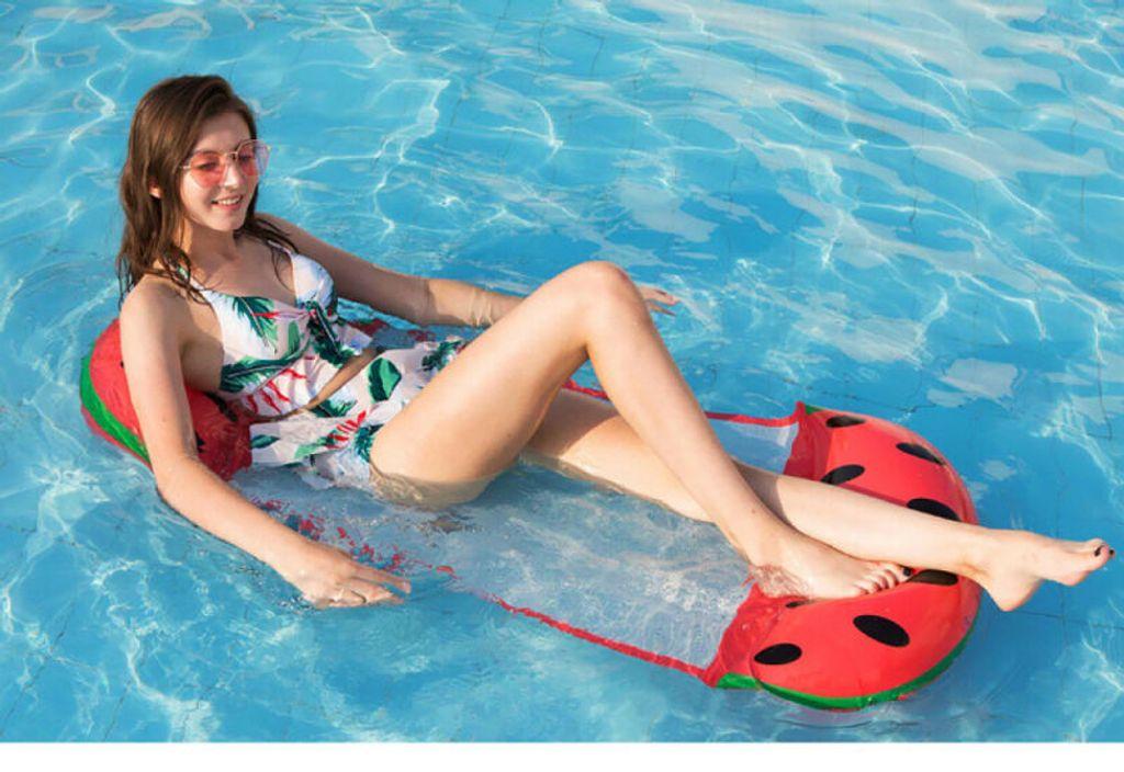 2x Pool aufblasbares Bett Wasser Float schwimmende Hängematte Sommer Drifting
