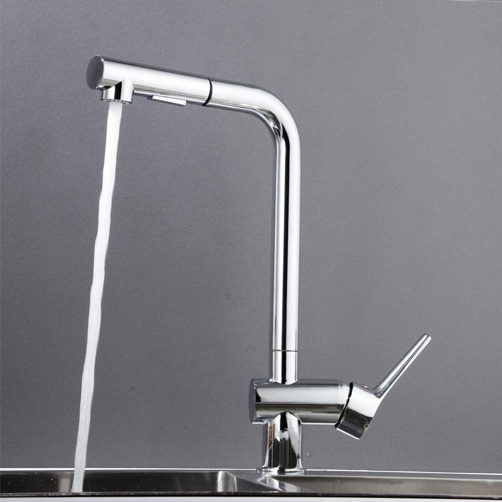DAYPLUS Hochdruck Wasserhahn Küchenarmatur Spüle Mischbatterie Einhebelmischer