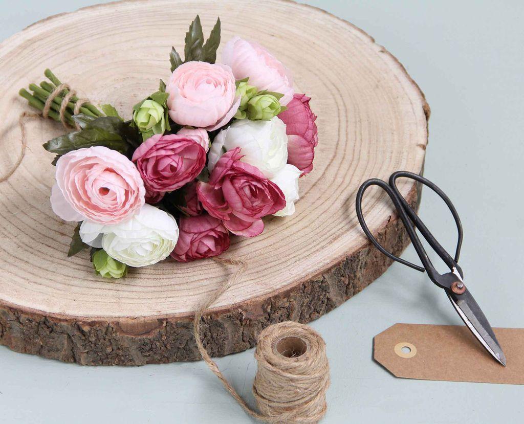 Gerberastrauß mit Gräser Kunstzweig Kunstblume Kunststrauß rosa  H 65 cm