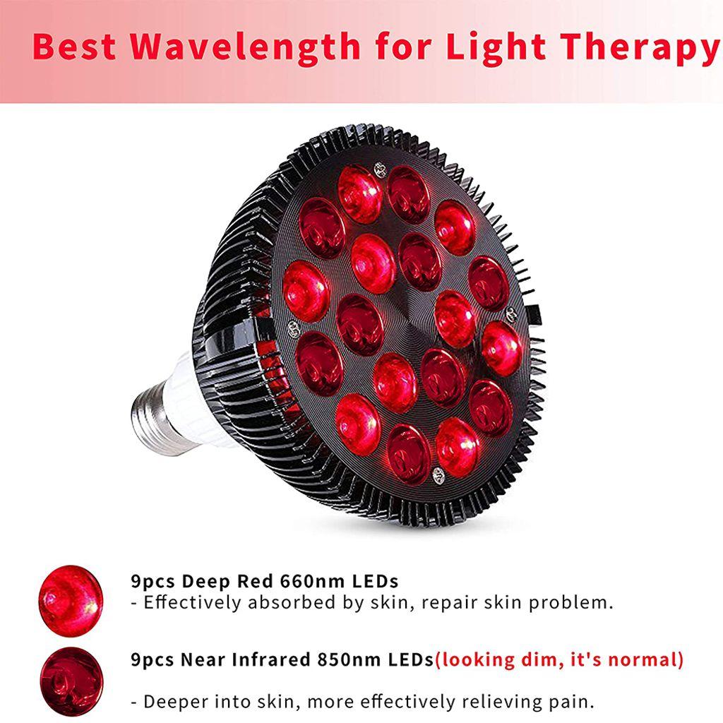 20W LED Lampe PAR 20 Rotlichtlampe Infrarot Lampe Infrarotstrahler  Rotlicht Tpielampe zur Schmerzlinderung