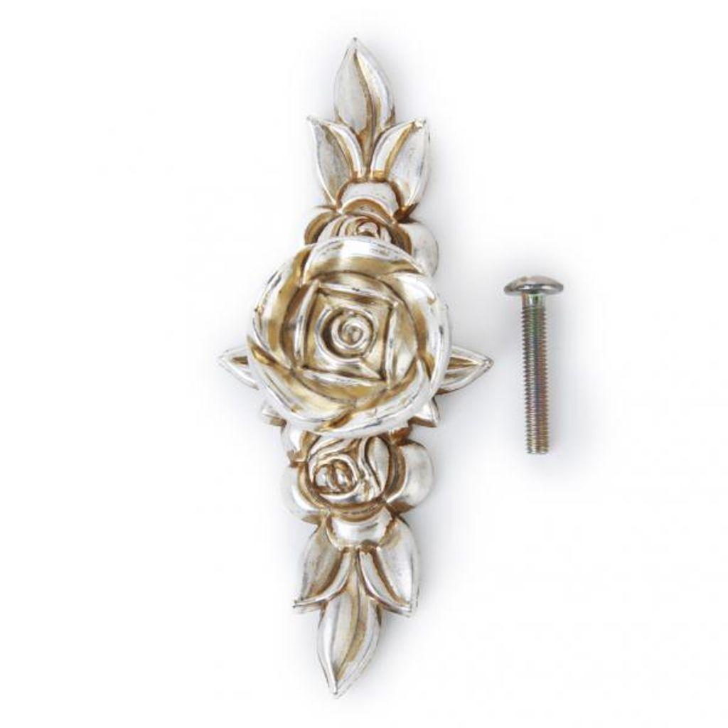 10 Stück Antik Silber Rose Schrank Schublade Bin Schrank Türgriffe Griffe