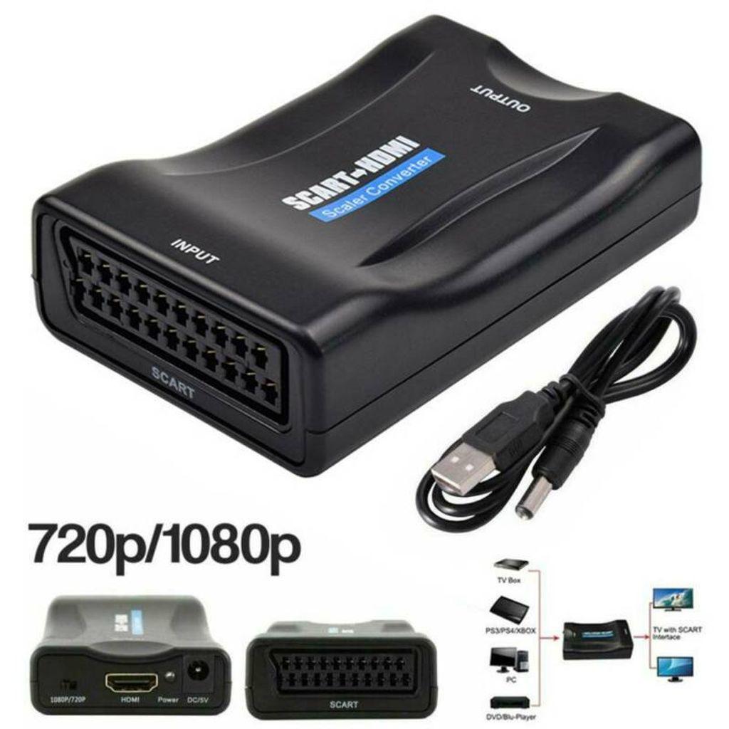 USB Scart zu auf HDMI Konverter Wandler AV Scaler Converter Adapter 1080P HD TV