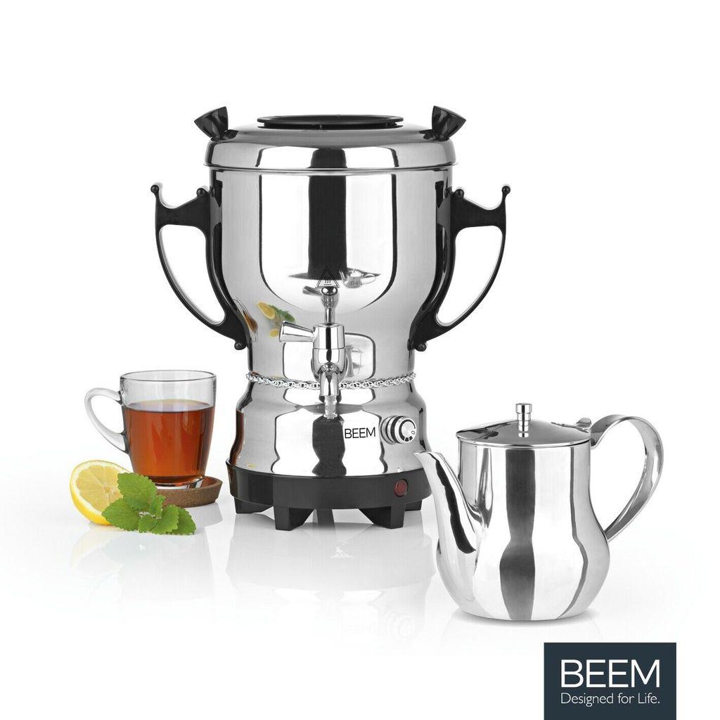 BEEM Samowar 3l 1800W Edelstahl Teemaschine Wasserkocher Teekocher Samovar