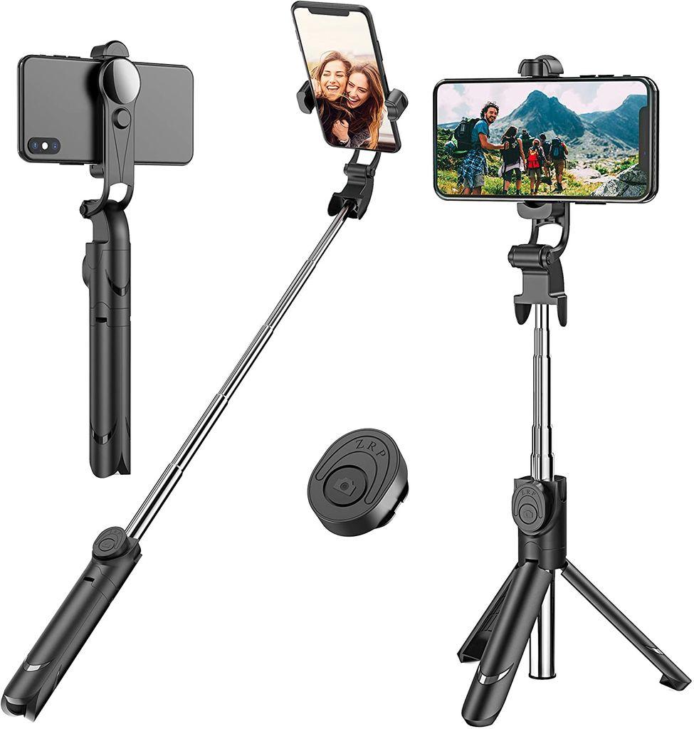 Ausziehbares Selfie Stick Stativ mit abnehmbarer kabelloser Fernbedienung  und Stativ Selfie Stativ für iPhone X / iPhone 20/20 Plus / iPhone 20/20 Plus,  ...