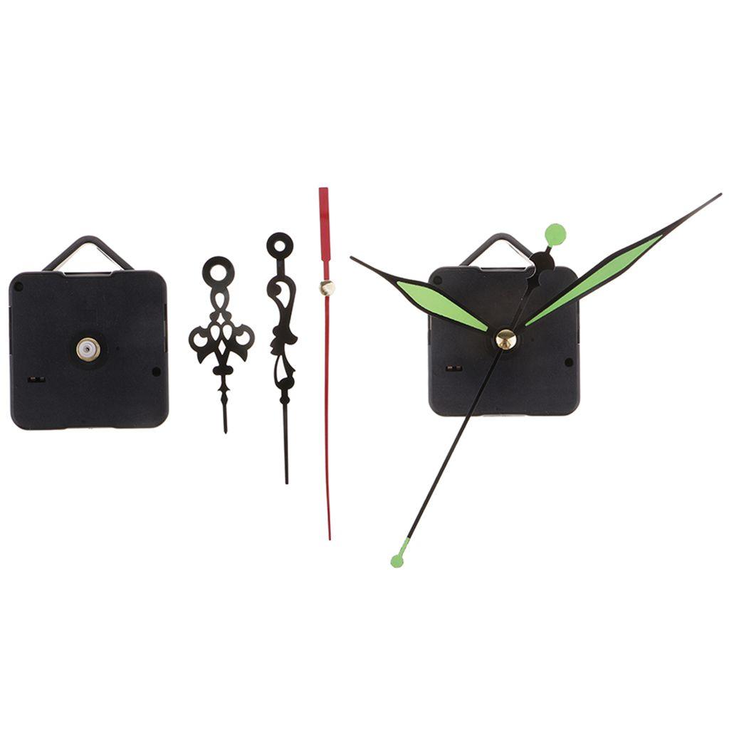 Uhr Bewegungen Kit Wanduhr Zubehör Elemente Ersatz Lautlos Mechanismus