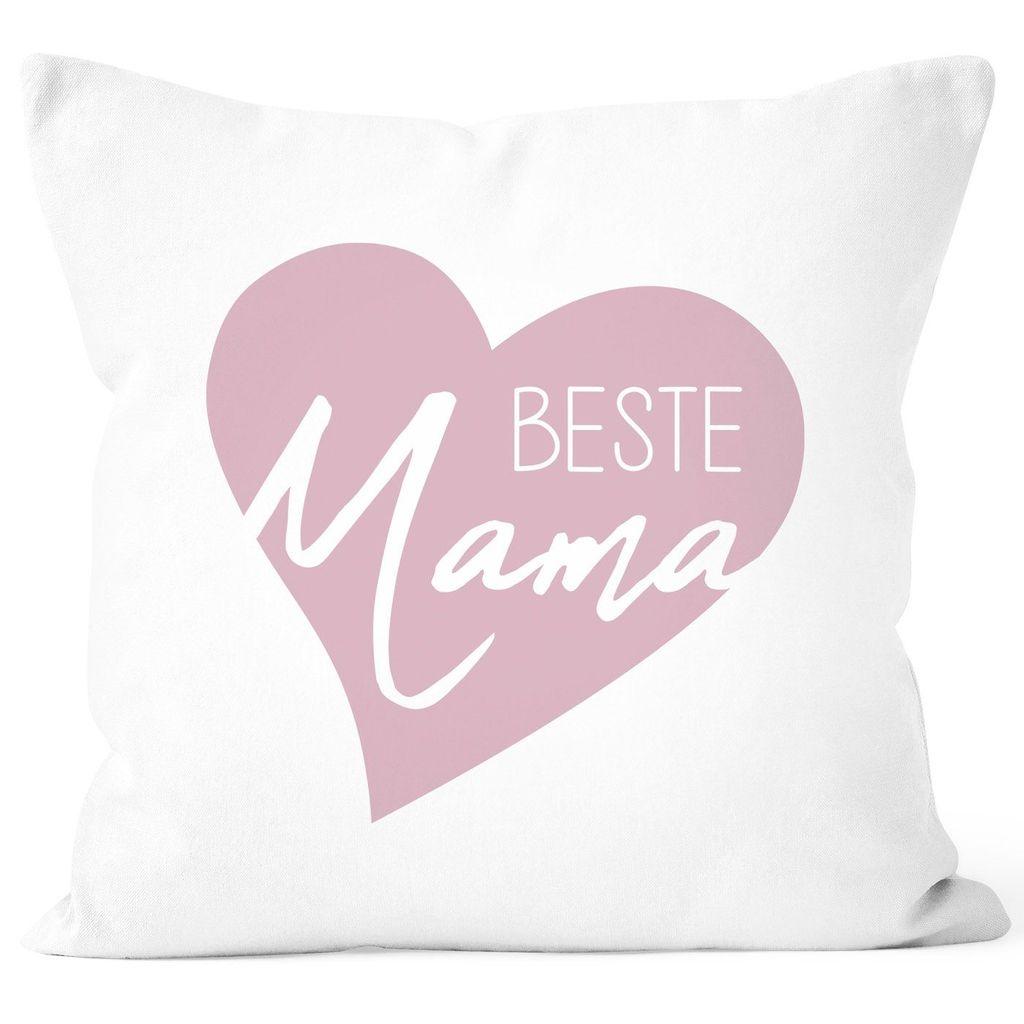 Kissen-Bezug Beste Mama Herz Geschenk für Mama Dankeschön Muttertag Geburtstag