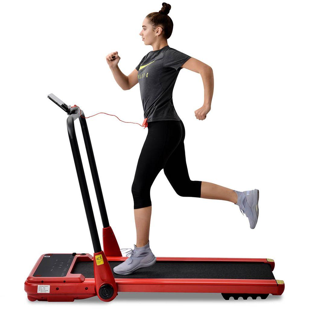 enthalten 12 Programme GEH- und Lauftraining f/ür Heim//B/üro Wakauto Laufband klappbar elektrisch Belastung bis 100Kg Geschwindigkeit bis 10km//h