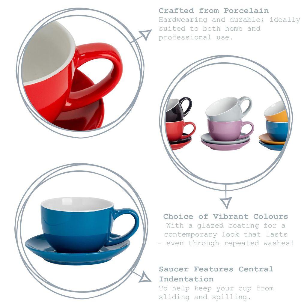 Kaffeetassen Set 12 teilig Hyc301las Auch als Espresso oder Cappuccinotassen f/ür 6 Personen Bavary Kahve Fincanı Porselen Taşlı 6 Kişilik 12 Par/ça