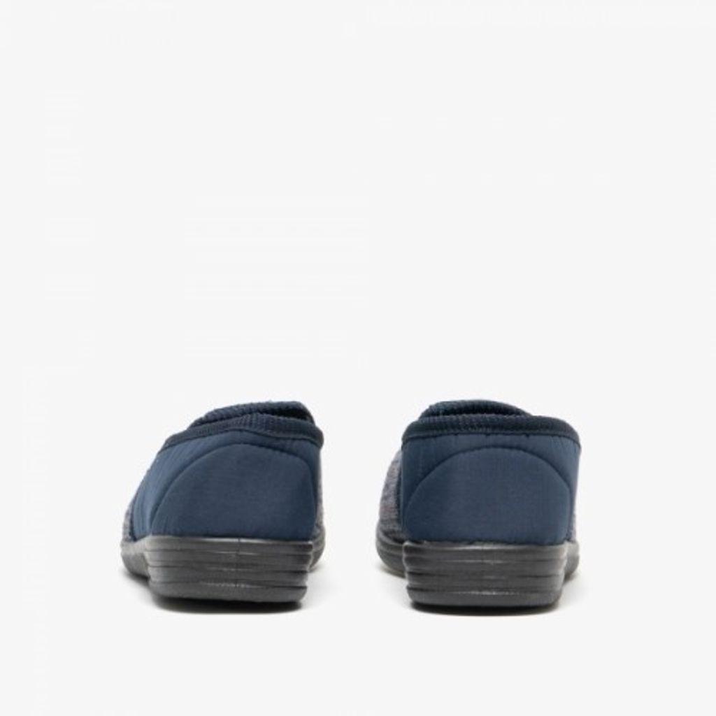 DF841 Zedzzz Herren Bertie Velours-Hausschuhe//Pantoffeln mit Klettverschluss,
