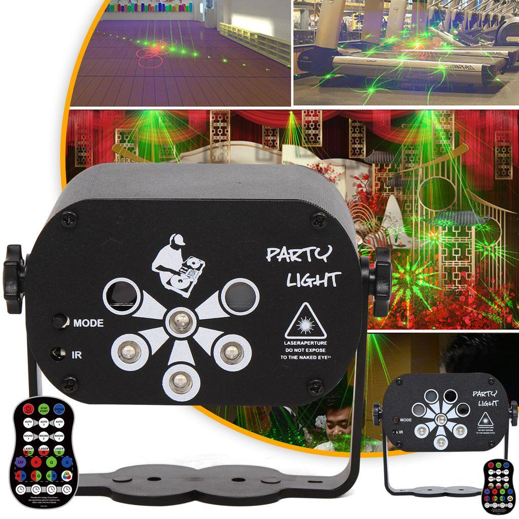 Muster RGB Bühnenbeleuchtung Discokugel LED Lichteffekt Laser Lampen Projektor