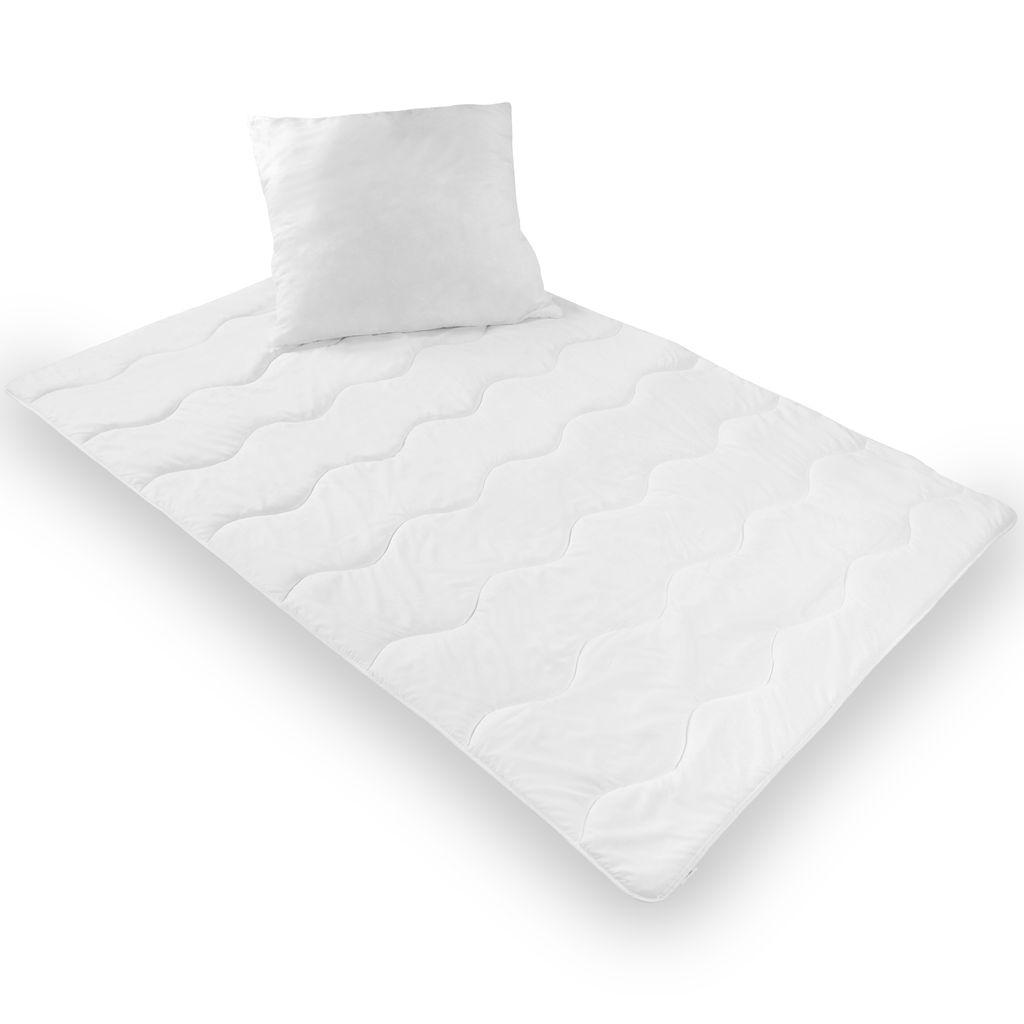 proheim Bettenset 112 x 112 cm Bettdecke und 112 x 112 cm Kopfkissen  12 teiliges n Set Microfaser Decke und Kissen Allergiker geeignet