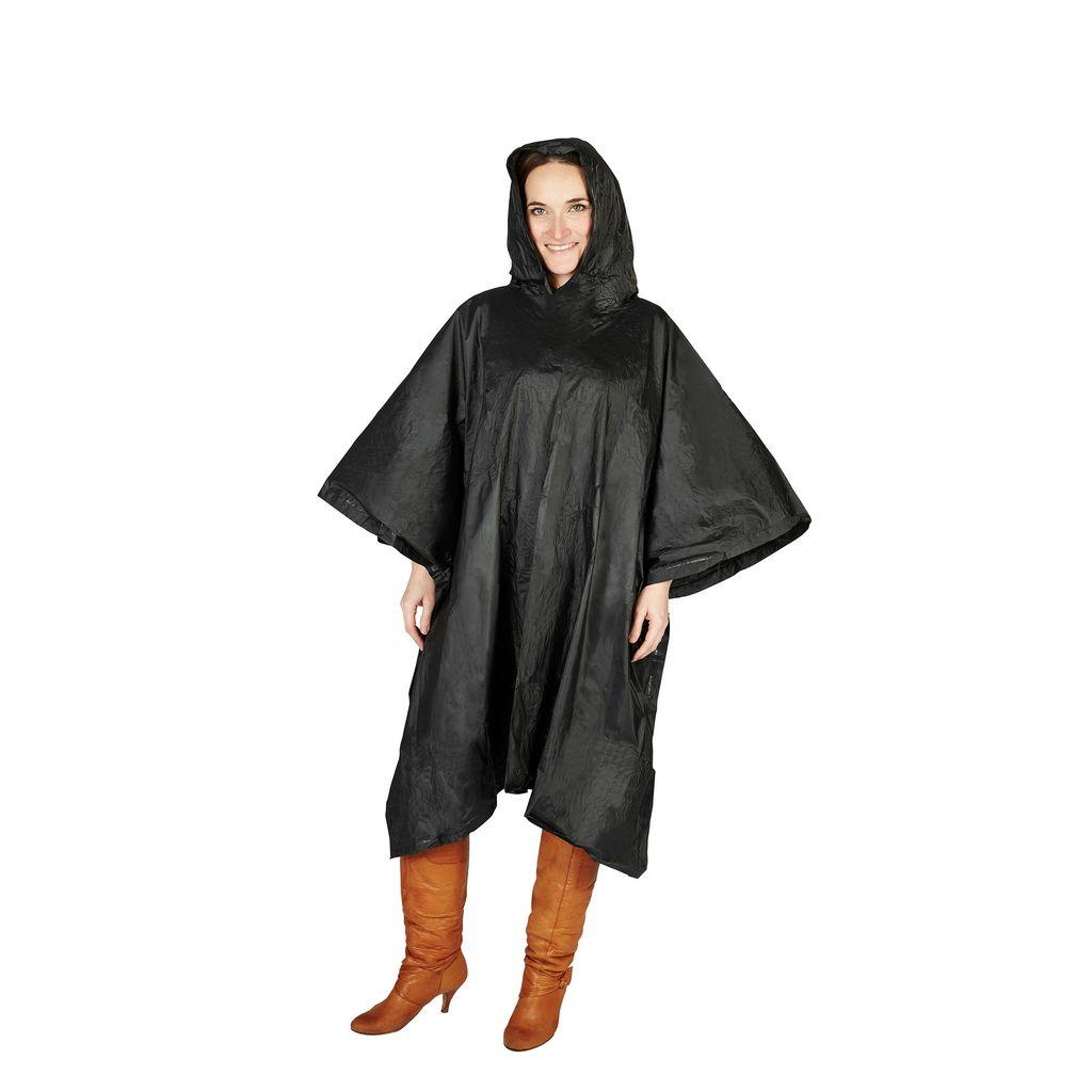 Splashmacs Unisex Regenponcho Regenschutz besonders leicht One Size,Schwarz