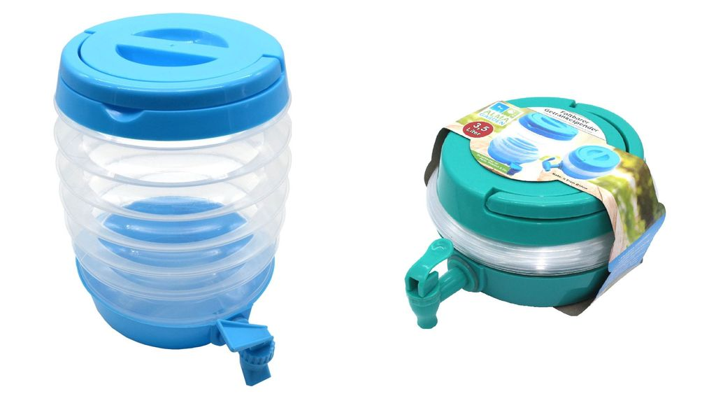 Zapfhahn und St/änder Getr/änkespender 5,5 Liter /Ø19xH29cm inkl Saftspender Wasserspender Glaskrug