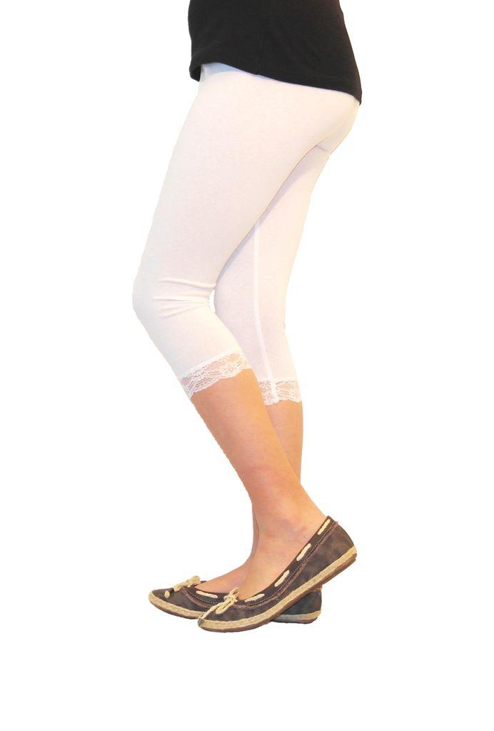 2er Sparset Kinderleggings Capri 3//4 Hose aus Baumwolle Leggings 110 bis 146
