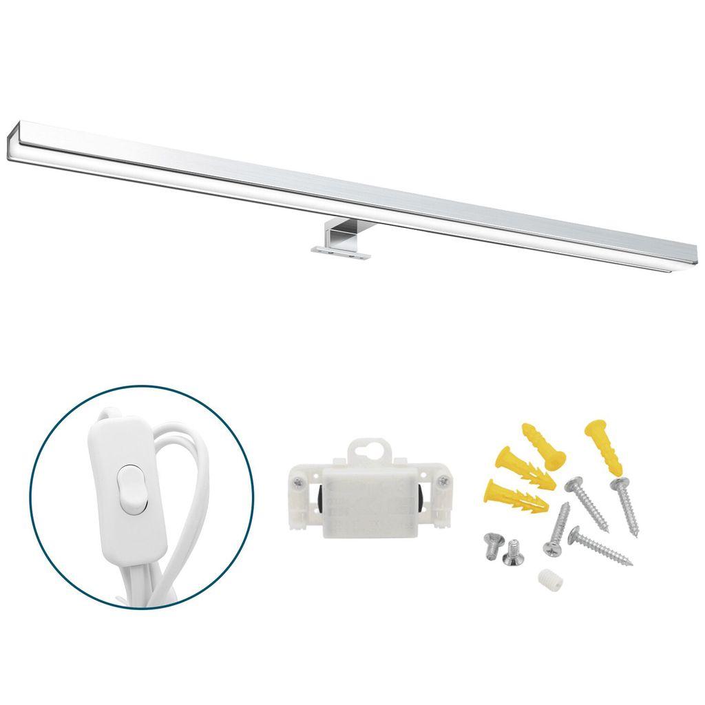 Wolketon LED Spiegelleuchte mit Schalter Bad 20W Badleuchte Spiegellampe  IP20 Wasserdichte Badlampe Schminklicht fuer Badezimmer Neutralweiss 20CM¡