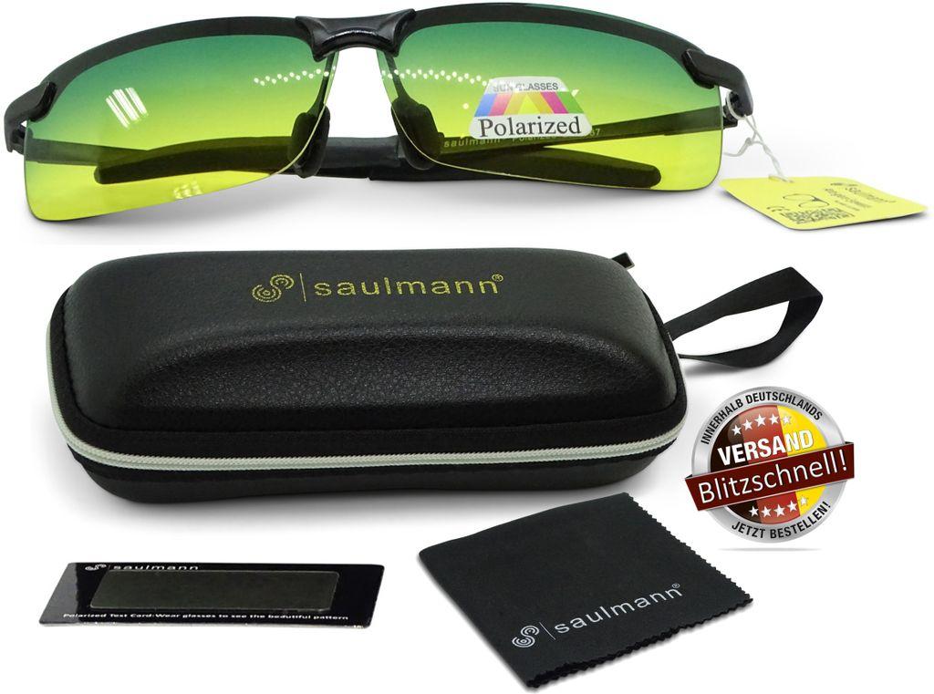 REVEX Nacht-Überbrille Nachtfahrbrille Kontrastbrille polarisiert für SIE /& IHN
