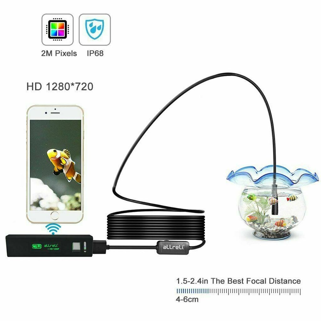 1//5//10M Wifi USB Wireless 1200P Endoskop Inspektion HD Kamera für iPhone Android