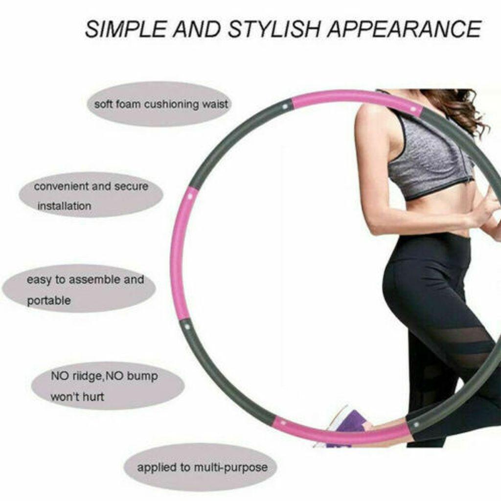 CakCity Hula Hoop Reifen Erwachsene Rostfreier Stahl Fitnessreifen Gewichten Einstellbar Durchmesser 95 cm f/ür Abnehmen//Massage//Fitness//Training ca1,0 kg