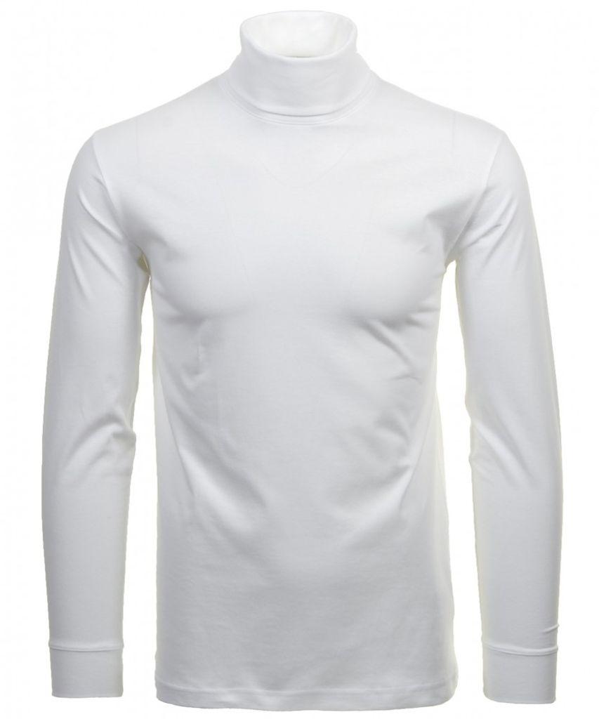 Ragman Herren Sweatshirt mit Polokragen grün Baumwolle Modell 3430091