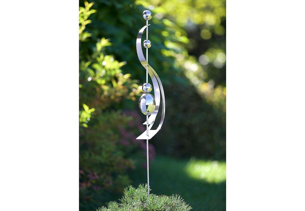 Dekostecker Gartenstecker HARMONY aus Edelstahl 150 cm
