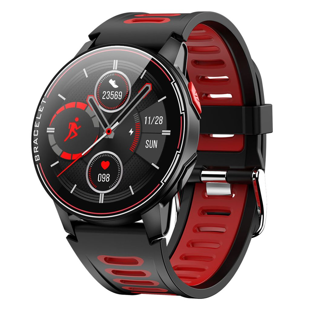 Bluetooth Smartwatch Smart Armband Fitness Tracker Pulsmesser für iOS Android DE