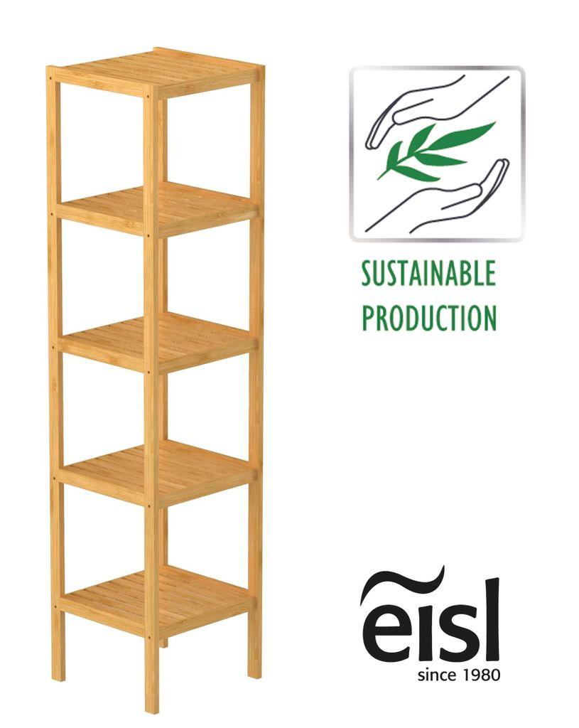 EISL Badezimmer Regal Bambus, Badregal schmal   Kaufland.de