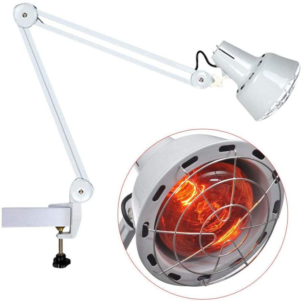 Infrarotlampe, rotlichtlampe wärmelampe Infrarot Wärmestrahler Rotlicht  Strahler Infrarotlichttpie, 20W