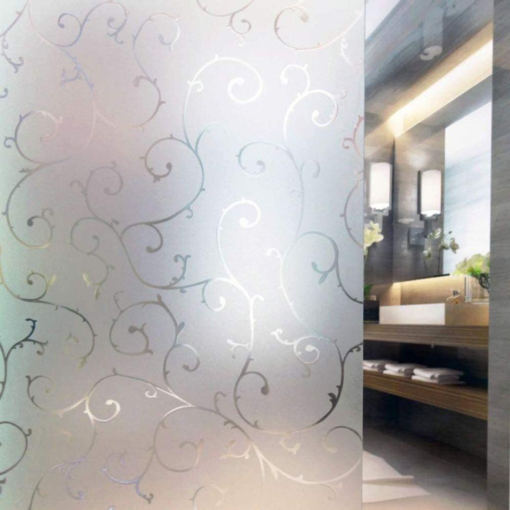 Milchglasfolie Fensterfolie Milchglas Duschkabinen Blickdicht Folie Fenster  Selbstklebend Sichtschutzfolie Sichtschutz Statisch Haftend Glasdekor Rebe  ...