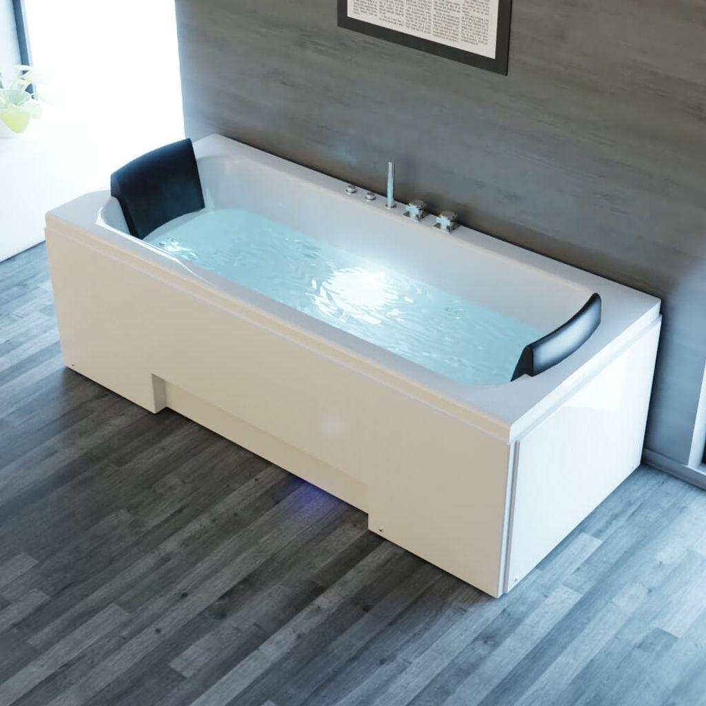 Whirlpool Badewanne IOS 20cm x 20cm inkl. Spülfunktion, Hydromassage und  Farblichtherapie