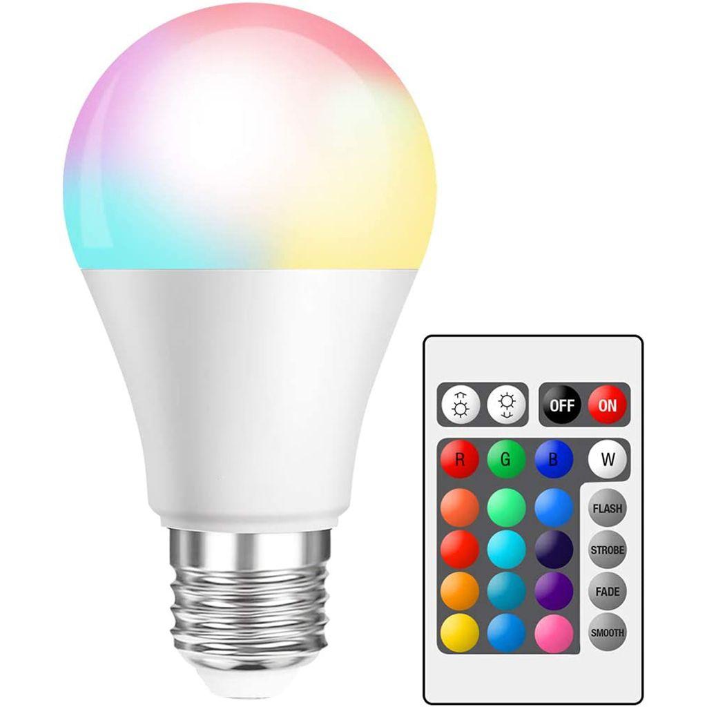 9W E9 LED Glühbirne Dimmbar RGBWW Lampe Licht Birne Leuchtmittel mit  Fernbedienung