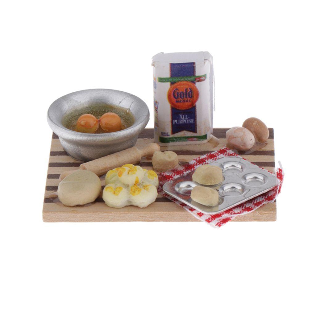 Harilla 3 St/ück 1//12 Puppenhaus Mini Holz Lebensmittel Getr/änke Aufbewahrungsbox K/üchenger/ät