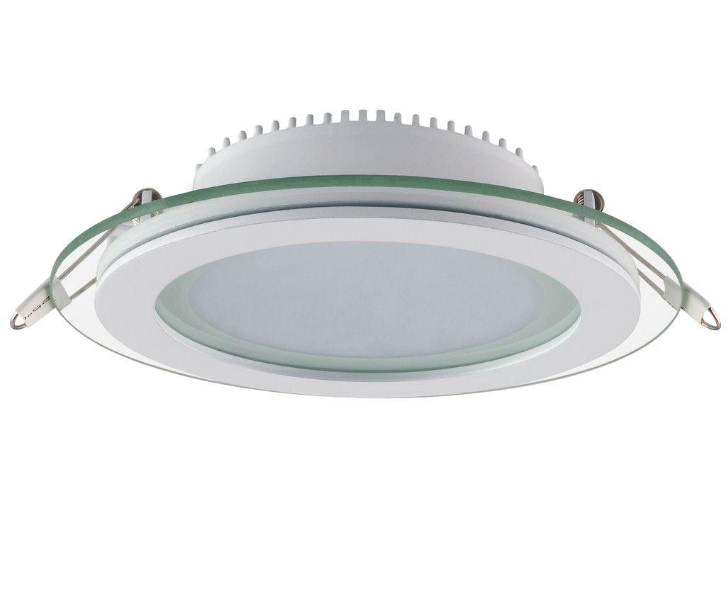 LED Panel Glas Einbaustrahler Deckenleuchte Einbauleuchte einbau Rund Ø 200 15W