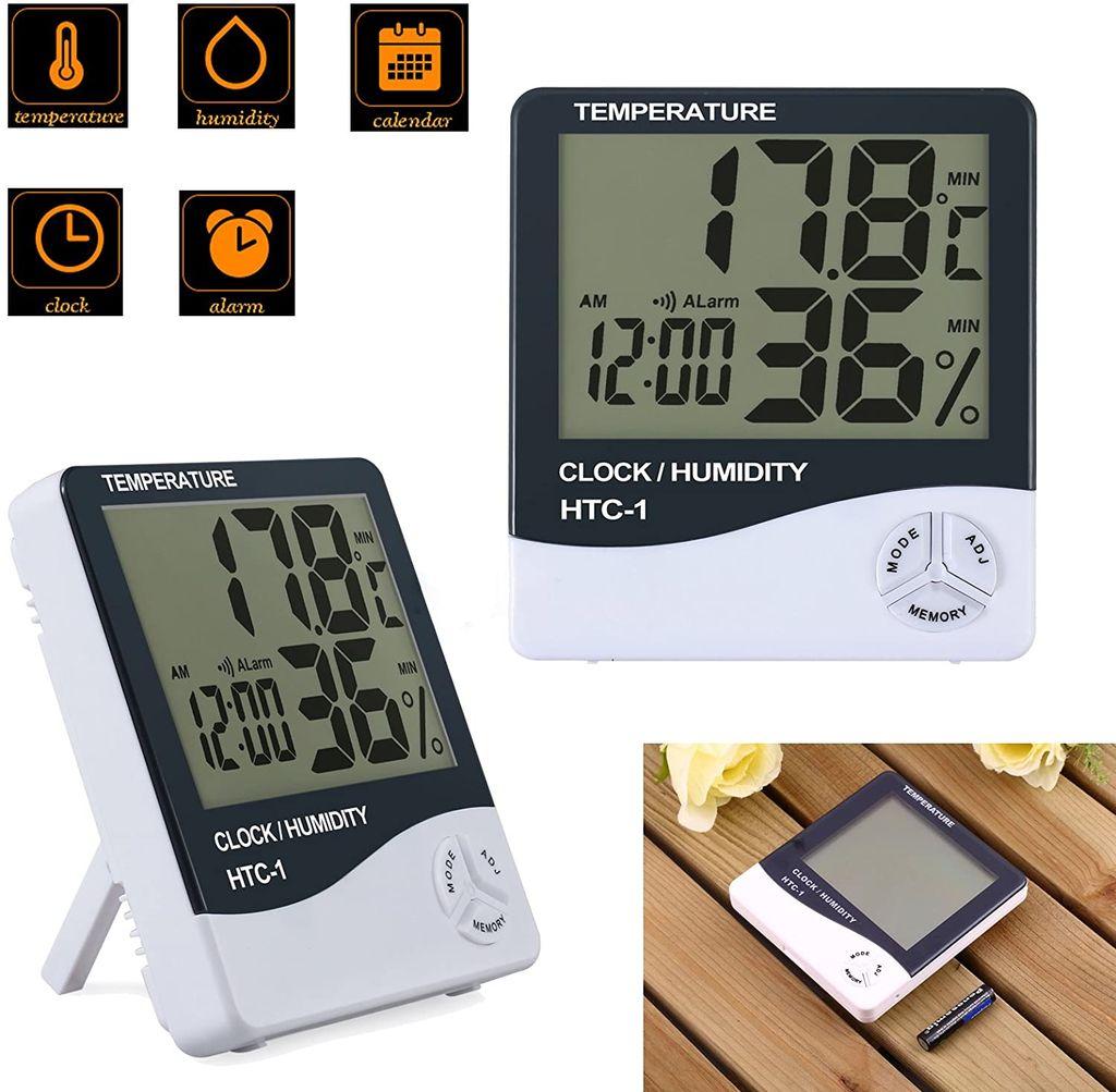 LCD Digital Raumthermometer Mit Luftfeuchtigkeitsmesser Hygrometer Temperatur