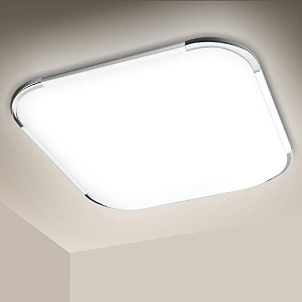 Wolketon 20W LED Deckenleuchte, Badezimmer Lampe, 20LM Flimmerfrei LED  Panel Deckenlampe, 20K Kaltweisse, Blendfrei