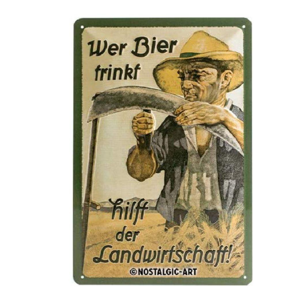 Wer Bier trinkt hilft der Landwirtschaft Kalender 1 x 20 x 30cm H//B//T