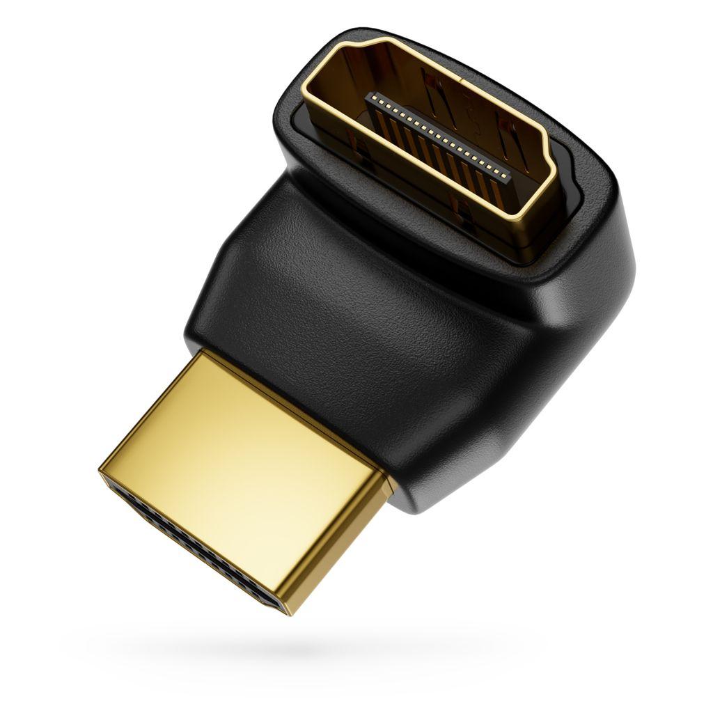 Adapter für HDMI Stecker 90° rechtwinkliger auf Buchse Adapter 270 Grad Winkel