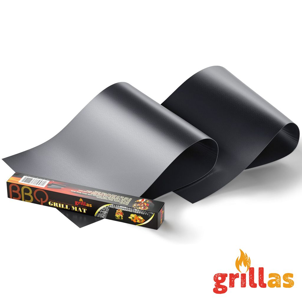 10er Set PREMIUM Dauer BBQ Grillmatte Grillunterlage Teflon Backmatte Bratfolie