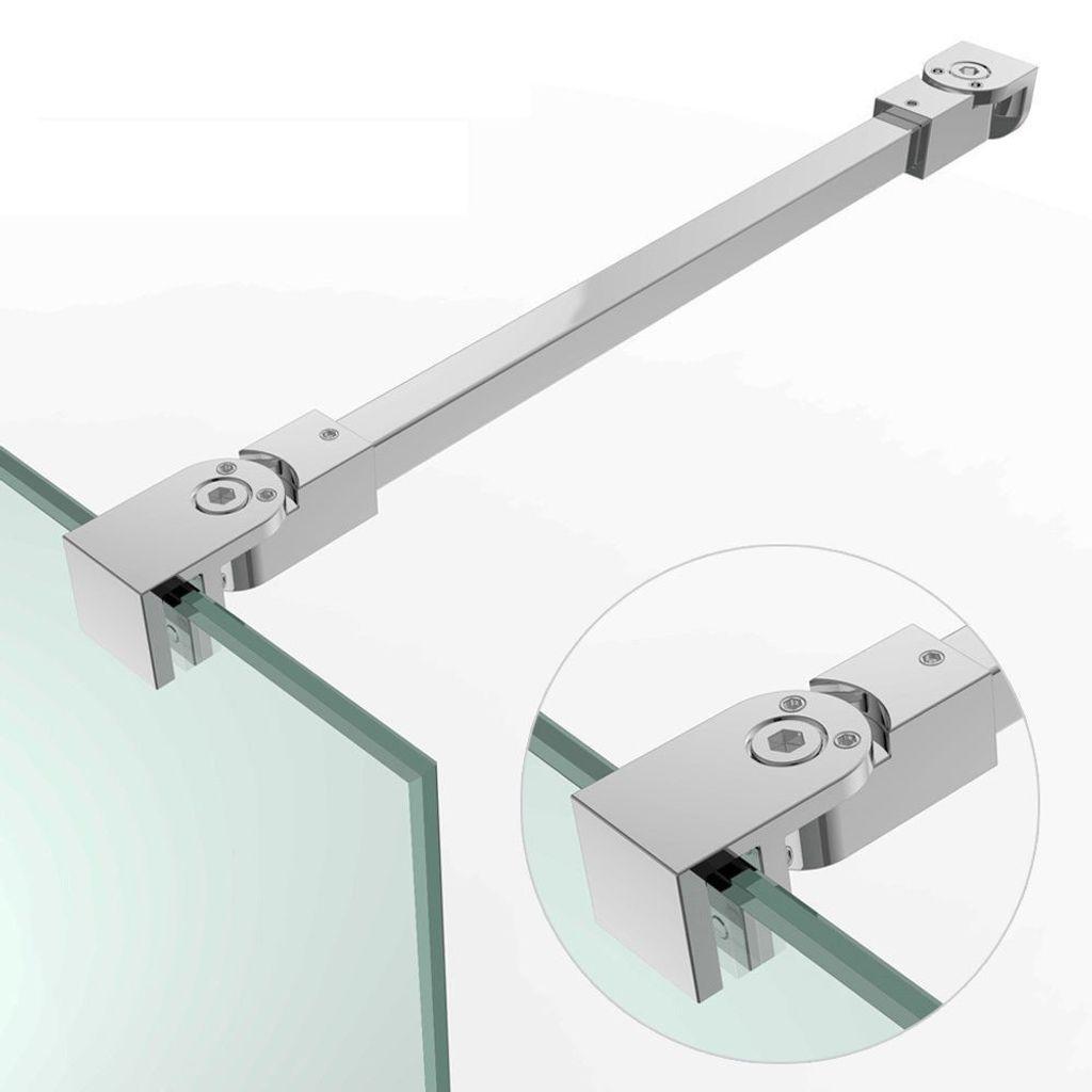 Glaswand Halter Stange Wandhalter Stabilisator Duschwand ESG Verstellbar  Kürzbar 20   20 mm in 20 mm HS20/ 20 NEU