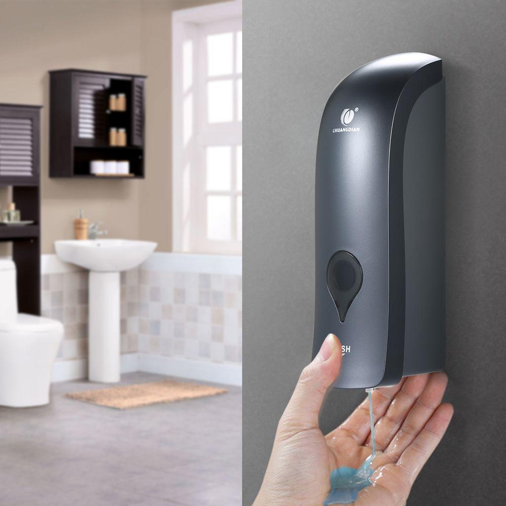 8 Stücke CHUANGDIAN 8ml Wandmontierter Einzelkopf Handseifenspender  Duschgel Flüssiges Shampoo Desinfektionsmittelspender Halter 【Grau】
