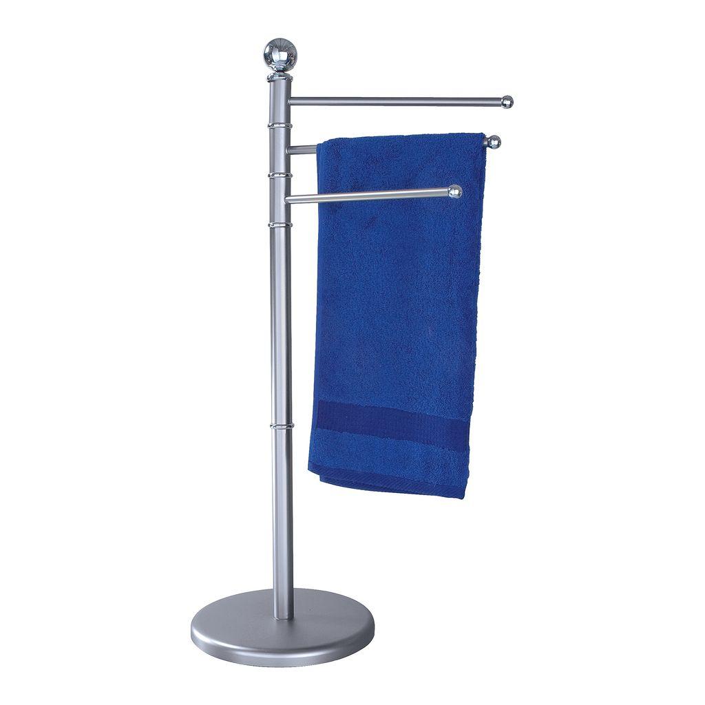 WENKO Handtuchhalter Handtuchständer Handtuchstange Halter Handtuch Weiß 3 Arme