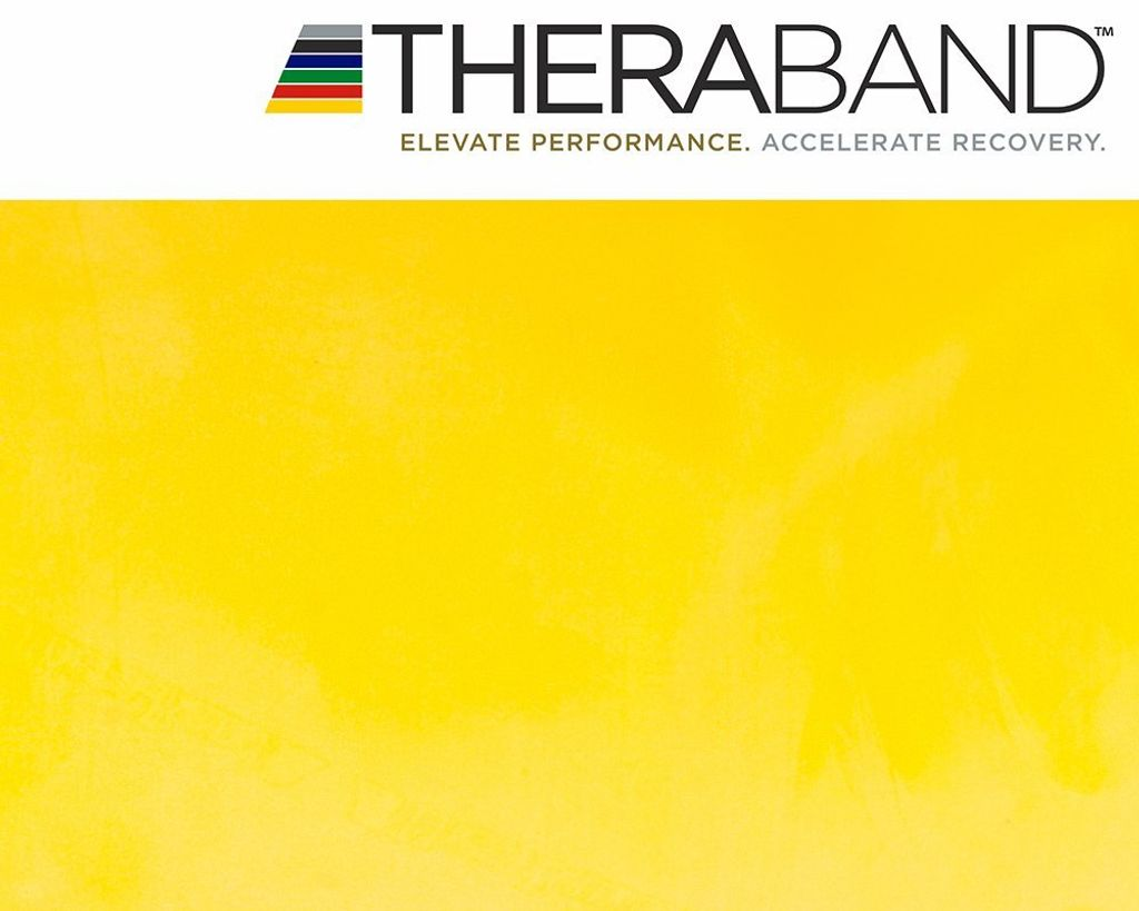 Übungsanleitung THERABAND Thera-Band® 2,5m ROT Mittel Stark in der Zippbox