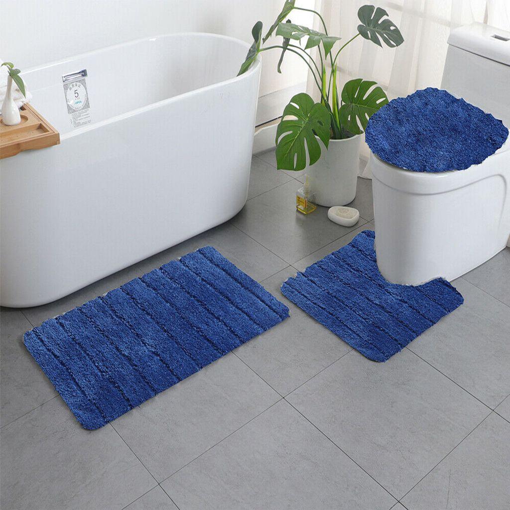 Topchances 20teilig Badezimmermatte rutschfest Badematte Badteppich  Badezimmerteppich Waschbar Duschmatten Weiche& Maschinenwaschbar Fußmatte  Teppich ...