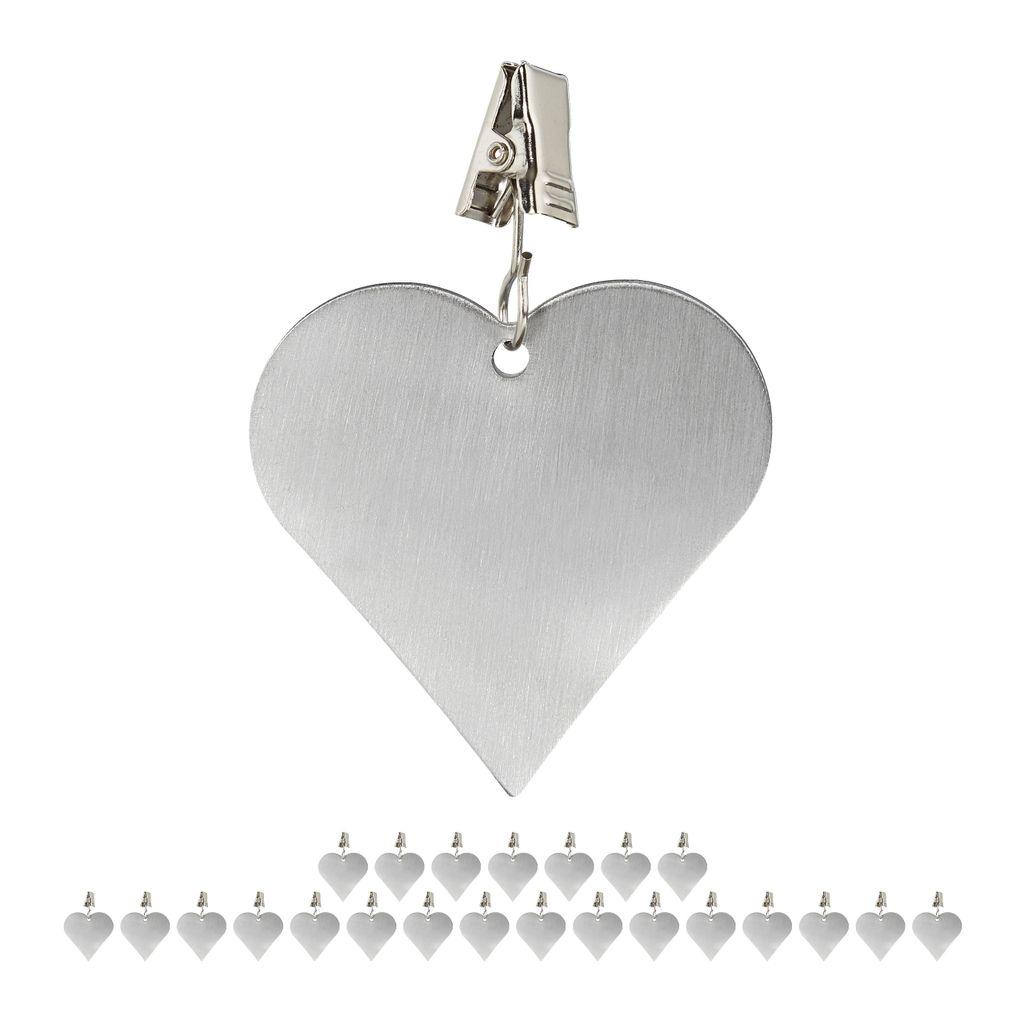 16 x Tischdeckenbeschwerer Tischtuchgewicht Tischtuchbommel Tischbeschwerer Herz