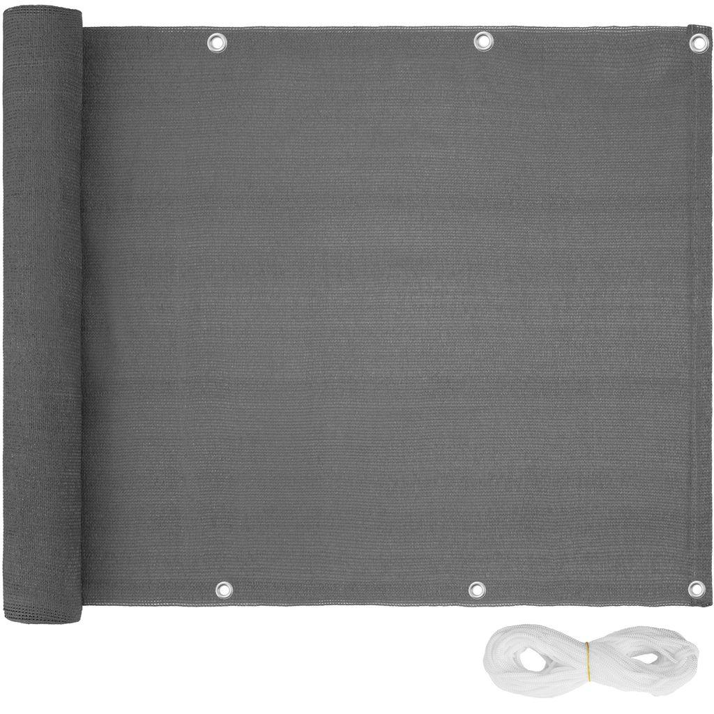 tectake Balkon Sichtschutz, Version 8   grau, 8 cm