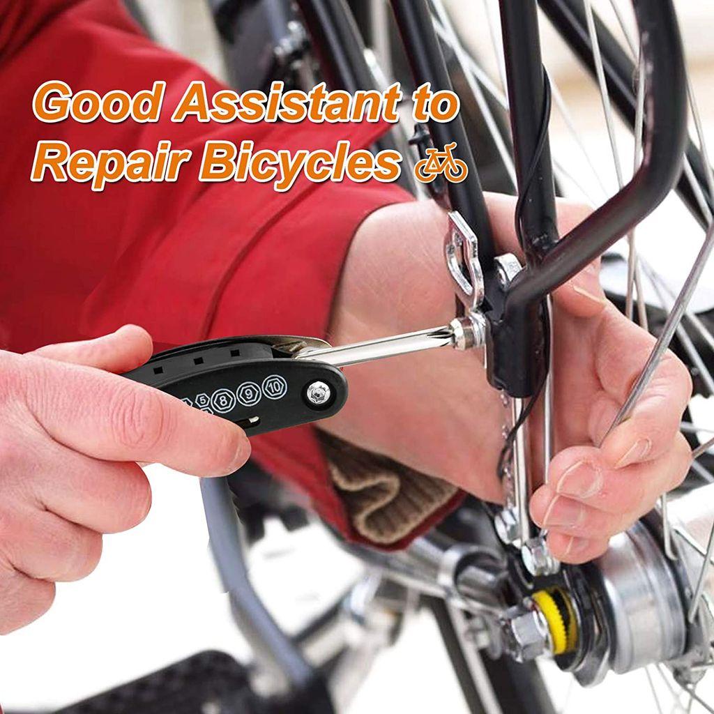 Fahrradwerkzeug Fahrrad Reparaturset Werkzeugset Fahrradflicken mit Satteltasche