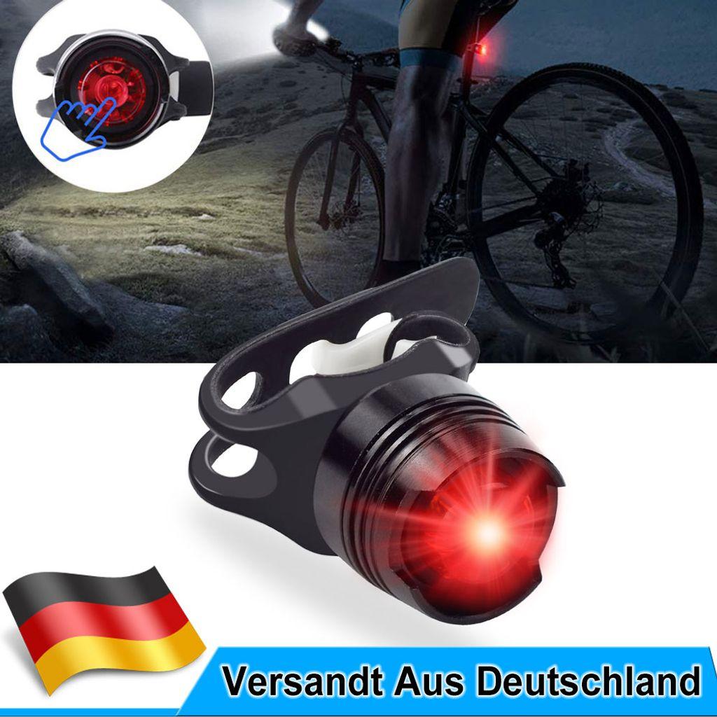 Fahrradlampe USB LED Fahrradlicht Vorne /& Hinten Lampe MTB COB Fahrradleuchten